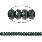 Beads magnetik kuqe e mbylltë, Rondelle, e zezë, Një, 4x3mm, : 1mm, :15.5Inç, 10Fillesat/Shumë,  Shumë