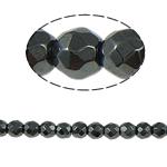 Non-Beads magnetik kuqe e mbylltë, Jo-magnetike kuqe e mbylltë, Round, e zezë, Një, 2x2mm, : 1mm, :15.5Inç, 10Fillesat/Shumë,  Shumë