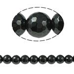 Non-Beads magnetik kuqe e mbylltë, Jo-magnetike kuqe e mbylltë, Round, e zezë, Një, 12x12mm, : 1mm, :15.5Inç, 10Fillesat/Shumë,  Shumë