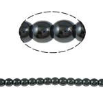 Magnetische Hämatit Perlen, rund, schwarz, Grade A, 3mm, Bohrung:ca. 1mm, Länge:15.5 ZollInch, 10SträngeStrang/Menge, verkauft von Menge