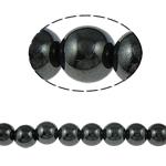Non-Beads magnetik kuqe e mbylltë, Jo-magnetike kuqe e mbylltë, Round, e zezë, Një, 14mm, : 2mm, :15.5Inç, 10Fillesat/Shumë,  Shumë