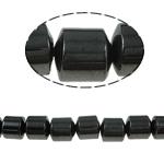 Magnetische Hämatit Perlen, Zylinder, schwarz, Grade A, 8x8mm, Bohrung:ca. 1.5mm, Länge:15.5 ZollInch, 10SträngeStrang/Menge, verkauft von Menge