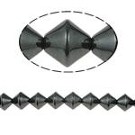 Non-Beads magnetik kuqe e mbylltë, Jo-magnetike kuqe e mbylltë, Bicone, e zezë, Një, 8x8mm, : 1.5mm, :15.5Inç, 10Fillesat/Shumë,  Shumë
