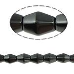 Non-Beads magnetik kuqe e mbylltë, Jo-magnetike kuqe e mbylltë, Bicone, e zezë, Një, 8x12mm, : 1.5mm, :15.5Inç, 10Fillesat/Shumë,  Shumë
