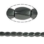 Magnetische Hämatit Perlen, Twist, schwarz, Grade A, 5x8mm, Bohrung:ca. 1.5mm, Länge:15.5 ZollInch, 10SträngeStrang/Menge, verkauft von Menge