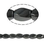 Beads magnetik kuqe e mbylltë, Kthesë, e zezë, Një, 6x9mm, : 1.5mm, :15.5Inç, 10Fillesat/Shumë,  Shumë