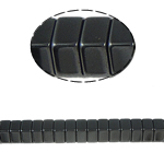Non-Beads magnetik kuqe e mbylltë, Jo-magnetike kuqe e mbylltë, Drejtkëndësh, e zezë, Një, 8x4mm, : 1.5mm, :15.5Inç, 10Fillesat/Shumë,  Shumë