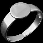 925 Sterling Silver Ring Finger Setting, Shape Tjera, argjend praruar vërtetë, asnjë, asnjë, 8mm, : 17.2mm, :7,  PC
