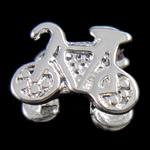Zink Legierung Europa Perlen, Zinklegierung, Fahrrad, ohne troll, frei von Nickel, Blei & Kadmium, 11x8x7mm, Bohrung:ca. 5mm, 10PCs/Tasche, verkauft von Tasche
