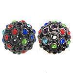 Beads bizhuteri Diamant i rremë, Round, asnjë, me diamant i rremë, 25x25mm, : 4mm, 50PC/Qese,  Qese