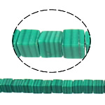 Beads malakit, Kub, natyror, 4x4x4mm, : 1mm, : 16Inç, 10Fillesat/Shumë,  Shumë