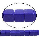 Beads lapis lazuli, lapis sintetike, Kub, asnjë, 8x8x8mm, : 1mm, : 15.5Inç, 10Fillesat/Shumë,  Shumë
