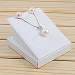 Natyrore kulturuar Pearl ujërave të ëmbla bizhuteri Sets, Pearl kulturuar ujërave të ëmbla, Round, natyror, e bardhë, 11-12mm, :17Inç,  I vendosur