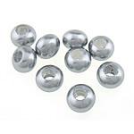Detit të Jugut Beads Shell, Jug Deti Shell, Round, asnjë, argjend, 12x8.50mm, : 10mm, 10PC/Qese,  Qese