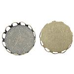 Tunxh Settings Cabochon, Round Flat, Ngjyra antike bronz i praruar, asnjë, , nikel çojë \x26amp; kadmium falas, 13x13x3mm, 12.5x12.5mm, : 12.5mm, 1500PC/Qese,  Qese