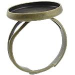 Bezel Brass Ring Base, Tunxh, Ngjyra antike bronz i praruar, asnjë, , nikel çojë \x26amp; kadmium falas, 16x16x2mm, 14x14mm, : 17mm, : 14mm, :5.5, 500PC/Qese,  Qese
