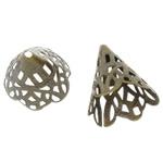Messing Perlenkappe, Kegel, antike Bronzefarbe plattiert, hohl, frei von Blei & Kadmium, 22x17mm, Bohrung:ca. 1.5mm, 1000PCs/Tasche, verkauft von Tasche