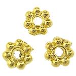 Beads Spacer tunxh, ngjyrë ari praruar, asnjë, , nikel çojë \x26amp; kadmium falas, 4x4x1.50mm, : 1mm, 16666PC/KG,  KG