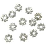 Beads Zink Alloy Spacer, Alloy zink, Lule, ngjyrë platin praruar, asnjë, asnjë, , nikel çojë \x26amp; kadmium falas, 4x4x1.50mm, : 1mm, 16666PC/KG,  KG