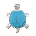 Varëse Bruz, Bruz lyera, Kafshë, blu, 43x34x6mm, : 6mm, 10PC/Qese,  Qese
