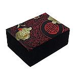 Gjerdan saten Box, with Velveteen, Drejtkëndësh, 120x76x44mm, 12PC/Qese,  Qese