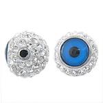 Diamant i rremë balta Beads hapë, Round, asnjë, 10mm, : 2mm, 10PC/Qese,  Qese