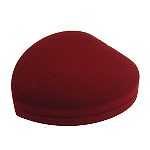 Bizhuteri Velveteen Set Box, Zemër, verë e kuqe, 150x153x42mm, 5PC/Shumë,  Shumë