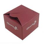 Dhuratë bizhuteri Box, Karton, Drejtkëndësh, verë e kuqe, 145x130x1mm, 66x66x44mm, 50PC/Qese,  Qese