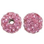 Çekë Beads diamant i rremë, Round, asnjë, Vintage Rose, PP8, 6mm, : 1mm, 10PC/Qese,  Qese