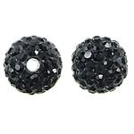 Çekë Beads diamant i rremë, Round, asnjë, me diamant i rremë, Reaktiv, PP11, 10mm, : 2mm, 10PC/Qese,  Qese