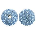 Tschechische Strass Perlen, Lehm pflastern, rund, mit 99 Stück Strass & mit tschechischem Strass, 10mm, Bohrung:ca. 2mm, 10PCs/Tasche, verkauft von Tasche