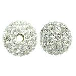 Çekë Beads diamant i rremë, Round, asnjë, me diamant i rremë, Kristal, PP11, 10mm, : 2mm, 10PC/Qese,  Qese