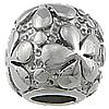 Edelstahl European Perlen, Trommel, ohne troll, originale Farbe, 11.50x13mm, Bohrung:ca. 6mm, 10PCs/Tasche, verkauft von Tasche