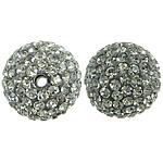 Çekë Beads diamant i rremë, Round, asnjë, me diamant i rremë, Greige, PP13, 14mm, : 2mm, 10PC/Qese,  Qese