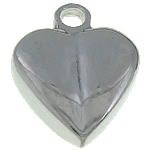Pendants Stainless Steel bizhuteri, Zemër, 8x11x3mm, : 2mm, 100PC/Qese,  Qese