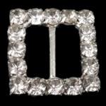 Diamant i rremë shtrëngoj, Tunxh, Katror, asnjë, me diamant i rremë, asnjë, , nikel çojë \x26amp; kadmium falas, 20x20x4mm, 50PC/Qese,  Qese
