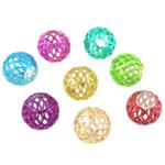 Beads bizhuteri Hekuri, Round, pikturë, asnjë, , nikel çojë \x26amp; kadmium falas, 10x9mm, : 4mm, 100PC/Qese,  Qese