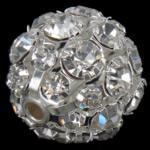 Beads bizhuteri Diamant i rremë, Round, asnjë, argjend, 20x20mm, : 2.8mm, 20PC/Qese,  Qese
