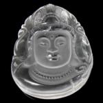 Pendants Natyrore kuarc, Kuarc qartë, Buda, natyror, 35x45x15mm, : 1mm,  PC