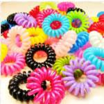 Elastike Hair, Plastik, ngjyra të përziera, 35-40mm, 100PC/Qese,  Qese