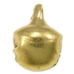 Hekuri Pendants Bell, Zile, ngjyrë ari praruar, asnjë, , nikel çojë \x26amp; kadmium falas, 8x6x5.50mm, : 1.5mm, 10000PC/Qese,  Qese