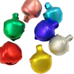 Aluminum varëse Bell, Zile, pikturë, ngjyra të përziera, 10x8x7mm, : 1.5mm, 5000PC/Qese,  Qese