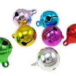 Tunxh Bell varëse, pikturë, ngjyra të përziera, , nikel çojë \x26amp; kadmium falas, 15x12mm, : 2mm, 1000PC/Qese,  Qese