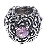 Beads European aliazh zink, Alloy zink, Daulle, pa karrem & me diamant i rremë, , nikel çojë \x26amp; kadmium falas, 11.50x9.50mm, : 5mm, 10PC/Qese,  Qese