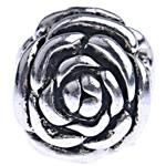 Beads European aliazh zink, Alloy zink, Lule, pa karrem, , nikel çojë \x26amp; kadmium falas, 12x12.50mm, : 4.5mm, 10PC/Qese,  Qese