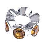 Beads European aliazh zink, Alloy zink, Rondelle, pa karrem & me diamant i rremë, , nikel çojë \x26amp; kadmium falas, 12x5mm, : 5mm, 10PC/Qese,  Qese