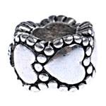 Zink Legierung Europa Perlen, Zinklegierung, Rondell, ohne troll, frei von Nickel, Blei & Kadmium, 10x7mm, Bohrung:ca. 5mm, 10PCs/Tasche, verkauft von Tasche