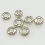 Silver Beads rreshtuar qelqi farë, Seed Glass Beads, 2x1.90mm, : 1mm,  Qese