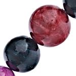 Beads bizhuteri gur i çmuar, Rainbow Veines Stone, Round, natyror, 8-20mm, : 1-1.5mm, : 15.5Inç, 5Fillesat/Shumë,  Shumë