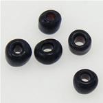 Satinierte Glas Rocailles, Glas-Rocailles, Rondell, schwarz, 2x1.90mm, Bohrung:ca. 1mm, verkauft von Tasche